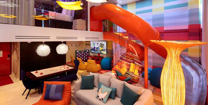 Ultimate family suite op de Symphony of the Seas © Royal Caribbean International.