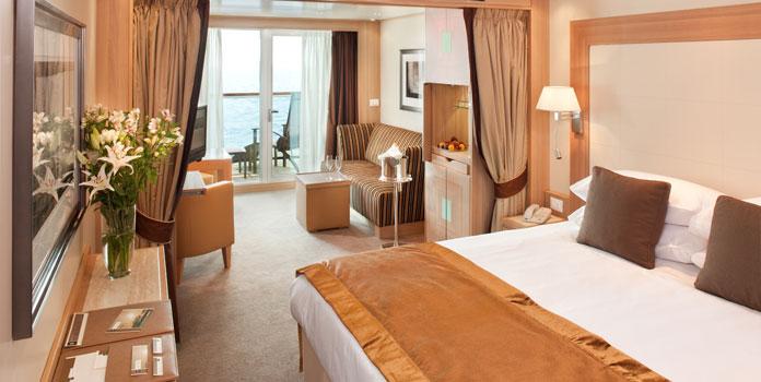 Veranda suite Seabourn Quest.