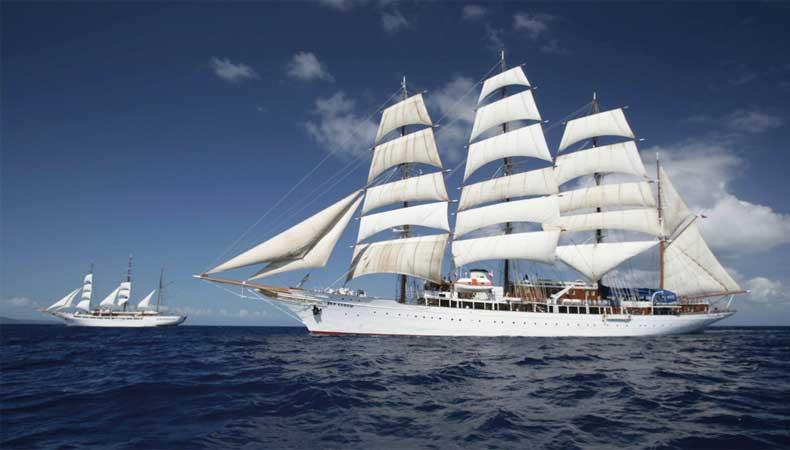 Maak een zeilcruise met de Sea Cloud van cruisemaatschappij Sea Cloud Cruises © Sea Cloud Cruises